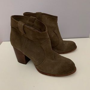 SPLENDID Ankle suede leather boots lt brown 8.5